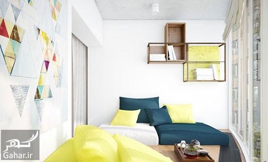 دکوراسیون داخلی آپارتمان 1 راهنمای دکوراسیون داخلی آپارتمان با رنگ های متفاوت