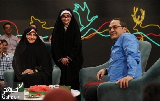 شهید رضایی نژاد در خندوانه گزارش حضور همسر و دختر شهید رضایی نژاد در خندوانه