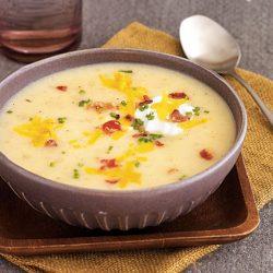 طرز تهیه سوپ شیر و سیب زمینی