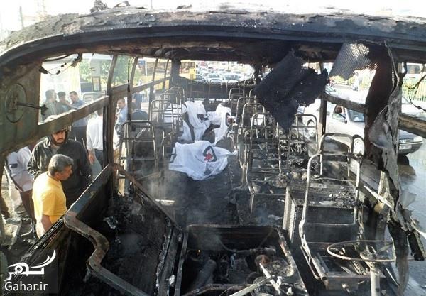 1396022711284093710897574 آتش سوزی مرگبار مینی بوس در تهران ؛ عکس