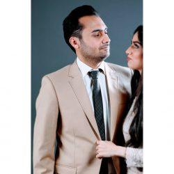 عکس های جذاب هانیه غلامی و همسرش در مجله «ایده آل»