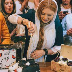 عکس های دیدنی سحر قریشی در افتتاحیه یک فروشگاه کیف و کفش