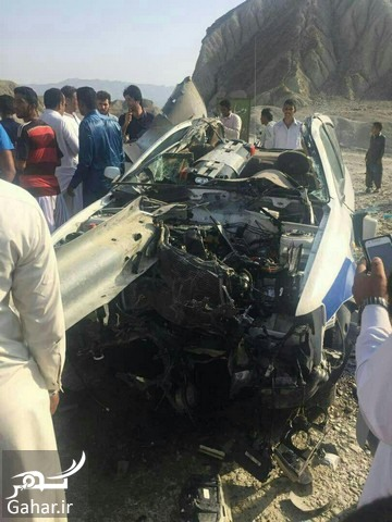 ax police تصادف شدید ماشین پلیس راه چابهار ؛ عکس