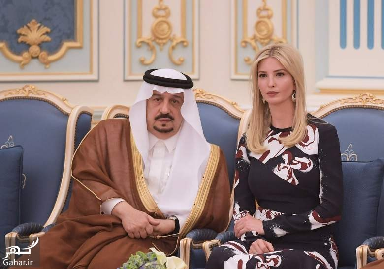 dokhtar trump عکس های دختر ترامپ وقتی وسط دو شاهزاده سعودی گیر می افتد