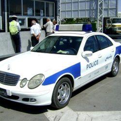 تصادف شدید ماشین پلیس راه چابهار ؛ عکس