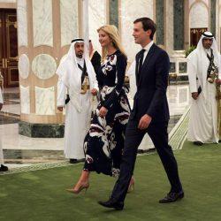 عکس داماد و دختر ترامپ در سفر به عربستان