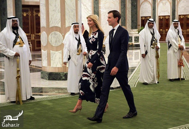 trump dauther عکس داماد و دختر ترامپ در سفر به عربستان