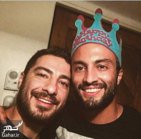 امیر جدیدی عکس نوید محمدزاده در جشن تولد امیر جدیدی