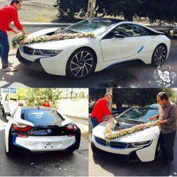 لوکس ترین BMW در تهران ماشین عروس شد ؛ عکس