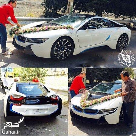 BMW car لوکس ترین BMW در تهران ماشین عروس شد ؛ عکس