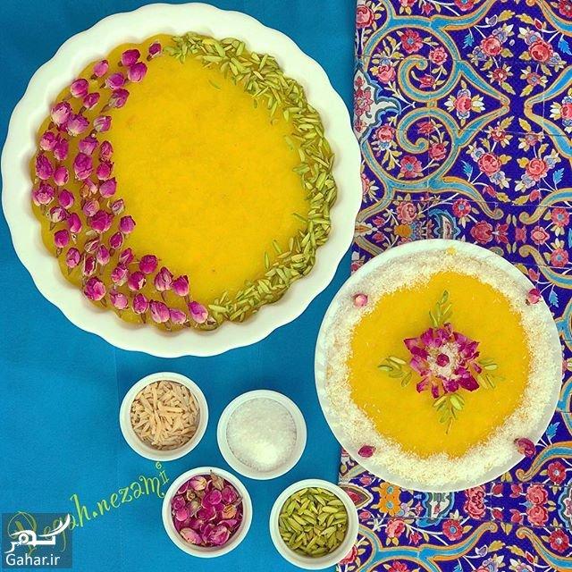 shole zard تزیین شله زرد نذری و سفره افطار فوق العاده زیبا