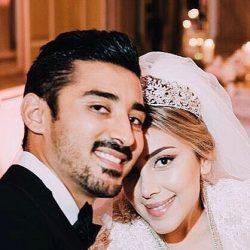 عکس/ لحظه ای زیبا از مراسم ازدواج رضا قوچان نژاد و همسرش