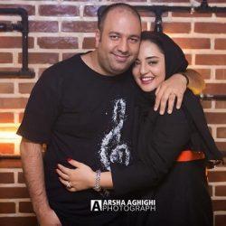 عکس جدید و متفاوت نرگس محمدی و علی اوجی در آسانسور