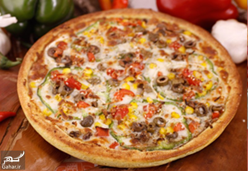 Vegetables big دستور پخت پیتزا سبزیجات