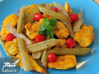 chicken celery دستور پخت خوراک مرغ و کرفس