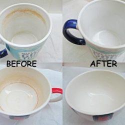 روشی آسان برای از بین بردن لکه چای از روی استکان و فنجان