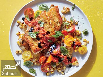 fish2 summer2 vegetables1 دستور پخت ماهی با سبزیجات