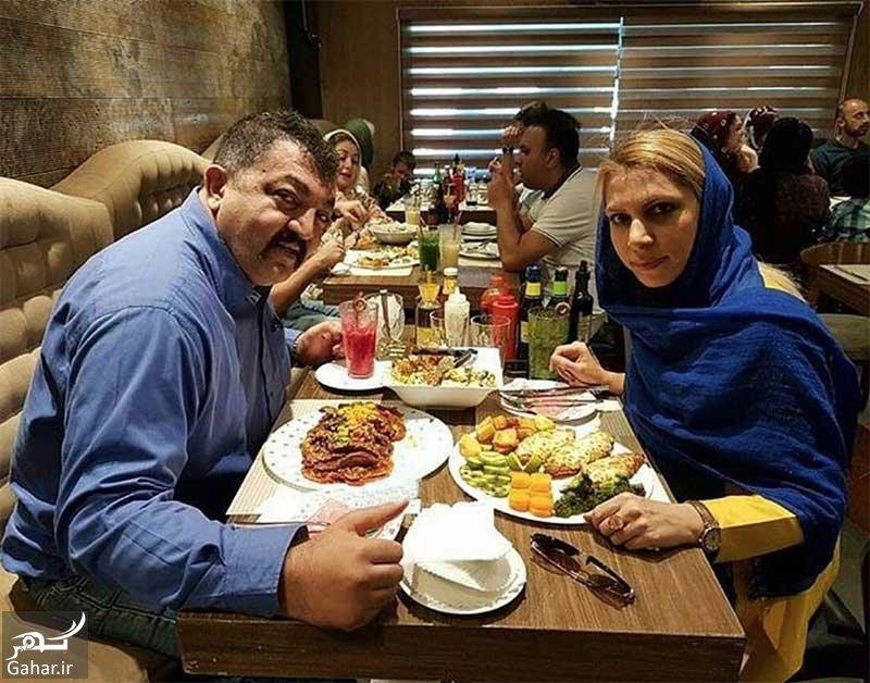 ahmad irandust عکس محافظ جنیفر لوپز ، احمد ایراندوست و همسرش