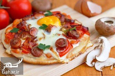 breakfast2 pizza1 آموزش تهیه پیتزا صبحانه