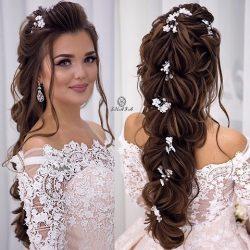 جدیدترین مدل های زیبای شینیون موی بلند عروس
