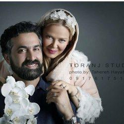 تیپ و آرایش متفاوت بهاره رهنما دست در دست همسرش