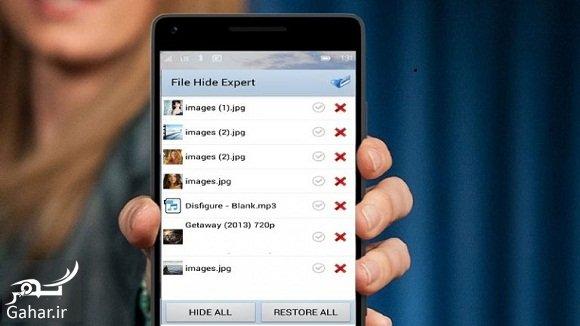 gooshi آموزش تصویری مخفی کردن عکس ، فیلم و فایل در گوشی اندروید