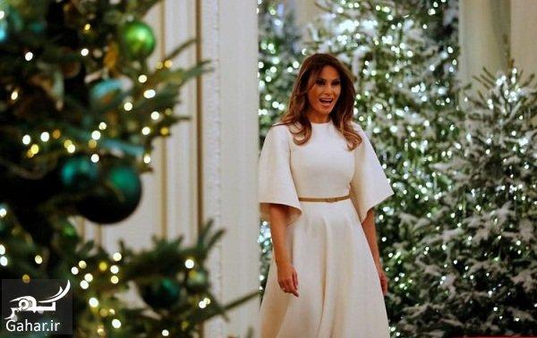 melania عکسهای تزئین کاخ سفید برای کریسمس 2018