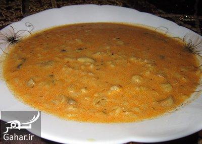 mushroom2 oatmeal2 soup2 آموزش تهیه سوپ قارچ و جو پرک