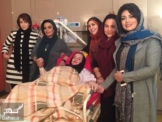 naeime bimarestan عکسهای ملاقات بازیگران از نعیمه نظام دوست در بیمارستان