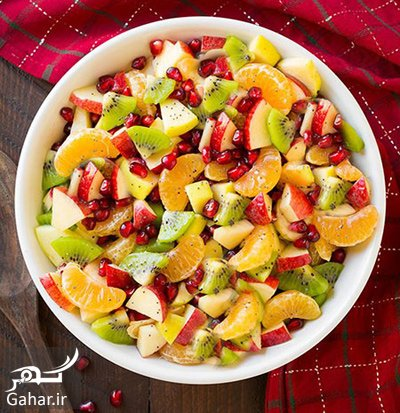 salad2 autumn2 fruits2 دستور تهیه سالاد با میوه های پاییزی