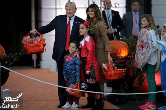 trump hollowen عکسهای ترامپ و همسرش در جشن هالووین 2017