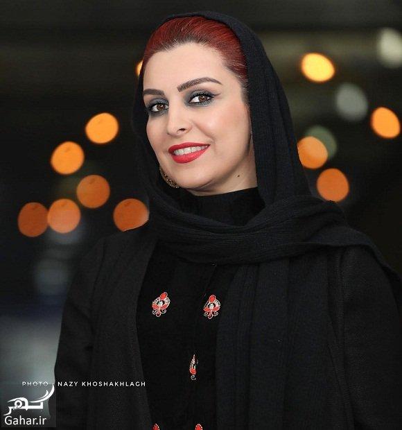 mahchehre khalili آرایش متفاوت ماه چهره خلیلی در اکران فیلم اشنوگل