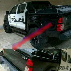 توقیف ماشین پلیس قلابی در بالاشهر تهران / عکس