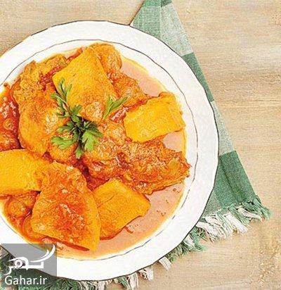 pumpkin2 stew2 دستور پخت خورش کدو حلوایی