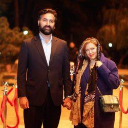 استایل جدید بهاره رهنما و همسرش در جشن موسیقی ما / تصاویر