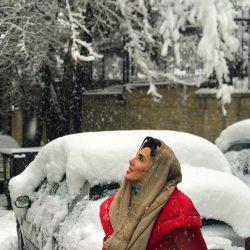 عکسهای زیبای لیلا بلوکات در روز برفی