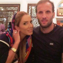 عکس بازیکن سابق پرسپولیس و همسرش با تیپ نامتعارف