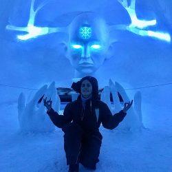 عکسهای جدید و دیدنی الناز شاکردوست در هتل یخی سوئد