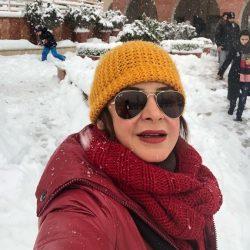 عکسهای بازیگران و هنرمندان در روز برفی تهران