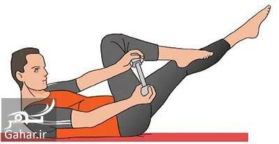 va4 1210 یک حرکت ساده ورزشی برای کوچک کردن شکم و پهلو