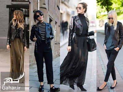 wear2 woman1 leather jacket1 ایده هایی برای پوشیدن کت چرم زنانه