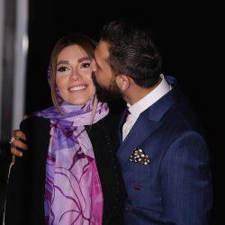 عکس محسن افشانی و همسرش شب گذشته در کنسرت شهاب مظفری
