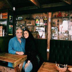 عکس ایرج نوذری و دخترش دلربا