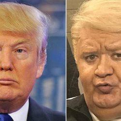 عکس اکبر عبدی در نقش ترامپ