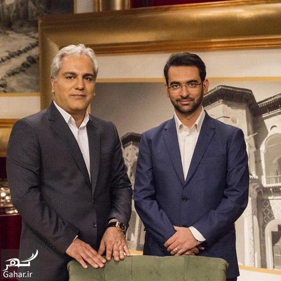 azari jahromi حضور آذری جهرمی وزیر ارتباطات در برنامه دورهمی