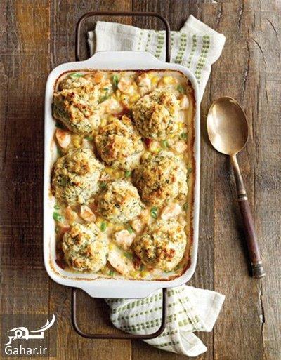 chicken1 casserole2 shrimp sauce طرز تهیه کاسرول کوفته مرغ با سس میگو