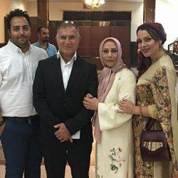 عکس مجید جلالی سرمربی پیکان بهمراه همسر و دخترش در یک جشن
