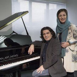 عکسهای سامان احتشامی (پیانیست معروف) و همسرش + بیوگرافی
