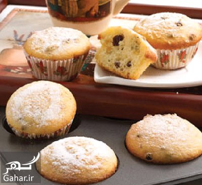 raspberry2 mufins1 آموزش تهیه عصرانه ساده و خوشمزه : مافین کشمشی