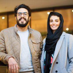 پوریا شکیبایی و همسرش در اکران خصوصی فیلم کمدی انسانی / ۳ عکس